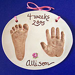 Double - child hand print with foot print